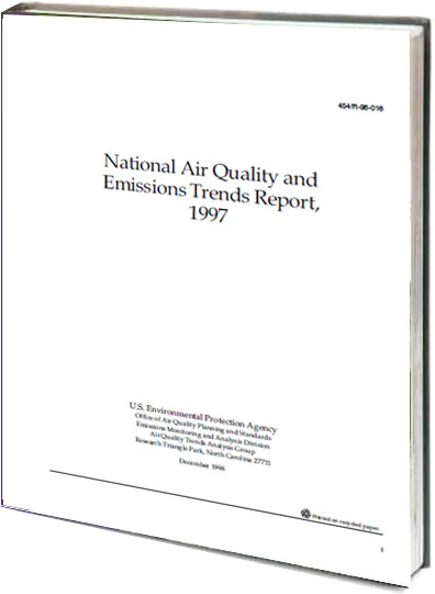 Portada de National air quality and emissions trends report 1997