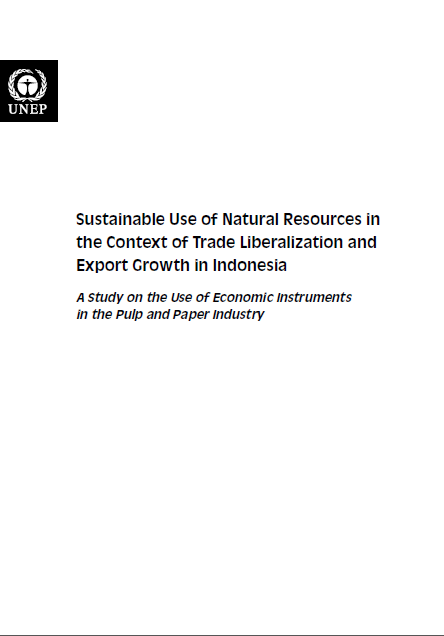 Portada de Sustainable Use of Natural Resources in the Context of Trade Liberalization and Export Growth in Indonesia: