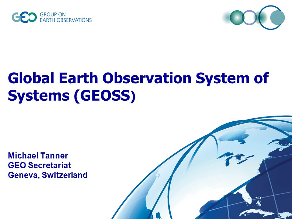 Portada de Global earth observation system of systems GEOSS