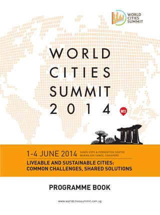 Portada de World cities summit 2014